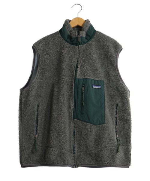 Patagonia(パタゴニア)Patagonia (パタゴニア) レトロXベスト グレー×グリーン サイズ:XLの古着・服飾アイテム