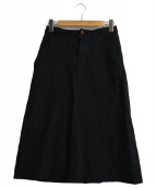 COMME des GARCONS COMME des GARCONS(コムデギャルソンコムデギャルソン)の古着「ポリエステルミディスカート」|ブラック
