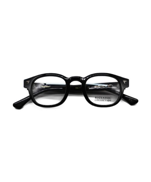 BJ CLASSIC COLLECTION(ビージェイ クラシック コレクション)BJ CLASSIC COLLECTION (ビージェイ クラシック コレクション) 伊達眼鏡 ブラック CELLULOID P-551の古着・服飾アイテム