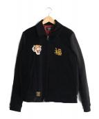 glamb(グラム)の古着「ニット刺繍ベドジャン」 ブラック