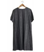 yuni(ユニ)の古着「刺繍ブラウスワンピース」|グレー