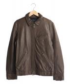 JACKROSE(ジャックローズ)の古着「シングルライダースジャケット」|ダークブラウン