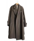stein(シュタイン)の古着「OVERSIZED LESS COAT」|カーキグレー