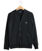 FRED PERRY(フレッドペリー)の古着「ジャージーカーディガン」|ブラック