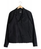 Denham(デンハム)の古着「デニムライダースジャケット」|ブラック