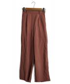 AMERI(アメリヴィンテージ)の古着「ツイルベーシックパンツ」|ピンク