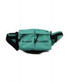 X-LARGE(エクストララージ)の古着「ロゴ刺繍ヒップバッグ」|グリーン
