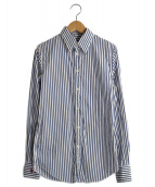 POLO RALPH LAUREN(ポロラルフローレン)の古着「ストライプシャツ」|ブルー