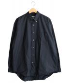 Graphpaper(グラフペーパー)の古着「Finx Rip-Stop B.D Shirt」|ネイビー