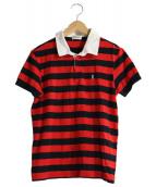 Saint Laurent Paris(サンローランパリ)の古着「ポロシャツ」|ブラック×レッド