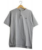 LACOSTE(ラコステ)の古着「鹿の子ヘンリーネックTシャツ」|グレー