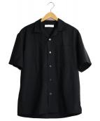 green label relaxing(グリーンレーベルリラクシング)の古着「オープンカラーシャツ」|ブラック