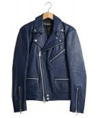JACKROSE(ジャックローズ)の古着「ダブルライダースジャケット」|ブルー