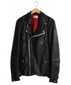 LHP(エルエイチピー)の古着「Padding W-Rider`s Jacket」|ブラック