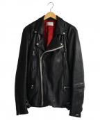 LHP(エルエイチピー)の古着「Padding W-Rider`s Jacket」 ブラック
