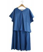 自由区(ジユウク)の古着「ストレッチコットンセットアップ」|ブルー