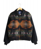 PENDLETON(ペンドルトン)の古着「ジップアップウールジャケット」|ブラック×オレンジ