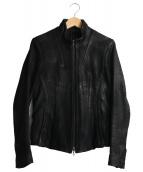 JULIUS(ユリウス)の古着「ラムレザージャケット」|ブラック