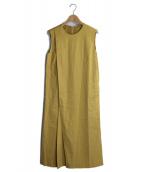 TOMORROW LAND collection(トゥモローランドコレクション)の古着「アシンメトリーワンピース」|イエロー