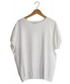 23区(ニジュウサンク)の古着「レーヨンポリエステル半袖ニット」|ホワイト