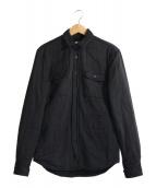 Acne(アクネ)の古着「キルトライナーシャツ」 ブラック