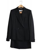 MaxMara(マックスマーラ)の古着「ダブルセットアップスーツ」|ブラック