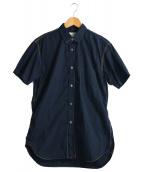 COMME des GARCONS SHIRT(コムデギャルソンシャツ)の古着「カラーステッチシャツ」|ネイビー