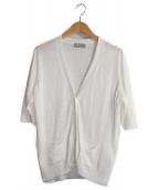 MARGARET HOWELL(マーガレットハウエル)の古着「リネンカーディガン」|ホワイト