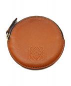 LOEWE(ロエベ)の古着「ラウンドコインケース」|オレンジ
