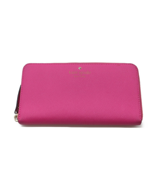 Kate Spade(ケイトスペード)Kate Spade (ケイトスペード) ラウンドジップ長財布 ピンクの古着・服飾アイテム