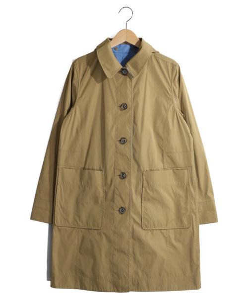 MACKINTOSH PHILOSOPHY(マッキントッシュフィロソフィー)MACKINTOSH PHILOSOPHY (マッキントッシュフィロソフィー) はっ水リバーシブルコート ベージュ×スカイブルー サイズ:38の古着・服飾アイテム