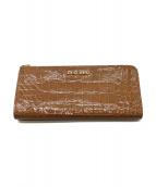 MIU MIU(ミュウミュウ)の古着「クロコ型押し長財布」|ブラウン