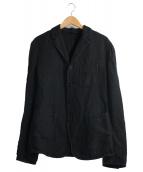 NEIL BARRETT(ニールバレット)の古着「コットンリネンスリムフィットジャケット」|ブラック