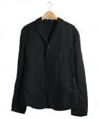 NEIL BARRETT(ニールバレット)の古着「コットンリネンスリムフィットジャケット」 ブラック