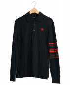 GIVENCHY(ジバンシィ)の古着「HDG Embroidered Polo Shirt」|ブラック