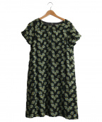 Sally Scott(サリースコット)の古着「刺繍ブラウスワンピース」|ブラック