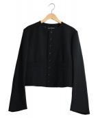tricot COMME des GARCONS(トリコ コムデギャルソン)の古着「ノーカラージャケット」|ブラック