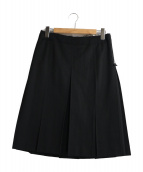 tricot COMME des GARCONS(トリコ コムデギャルソン)の古着「プリーツスカート」|ブラック