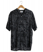 reyn spooner(レインスプーナー)の古着「半袖シャツ」|ブラック