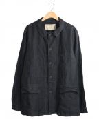 OLD JOE & Co.(オールドアンドジョー)の古着「HIGH COUNT LINEN CHORE JACKET」|ブラック