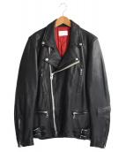 LHP(エルヘイチピ)の古着「ダブルライダースジャケット」|ブラック