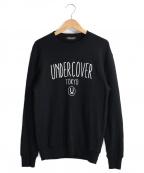 UNDERCOVER()の古着「クルーネックスウェット」|ブラック
