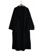 allureville(アルアバイル)の古着「ベルテッドコート」|ブラック