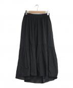 HUMAN WOMAN(ヒューマンウーマン)の古着「ティアードスカート」|ブラック