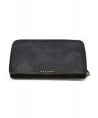 BVLGARI(ブルガリ)の古着「ラウンドファスナー財布」|ブラック
