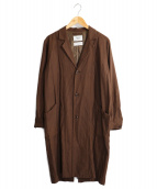 YAECA(ヤエカ)の古着「ロングアトリエコート」|ブラウン
