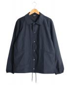 A.P.C(アーペーセー)の古着「ロゴ刺繍コーチジャケット」|ブラック