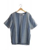KUON(クオン)の古着「刺し子プルオーバー」|インディゴ