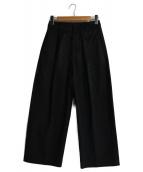 ATON(エイトン)の古着「WAIST FITTED WIDE PANTS」|ブラック