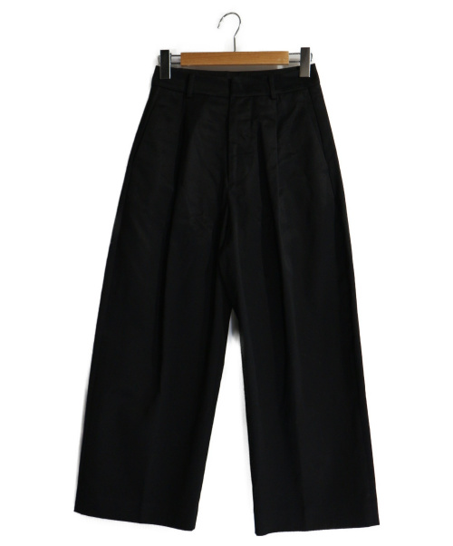 ATON(エイトン)ATON (エイトン) WAIST FITTED WIDE PANTS ブラック サイズ:01の古着・服飾アイテム